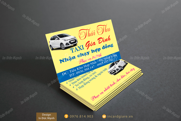 card visit taxi thai thu